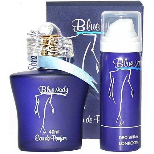 ادو پرفیوم زنانه لنکوم مدل Blue Lady حجم 40 میلی متر به همراه اسپری مدل Blue Lady حجم 50 میلی متر