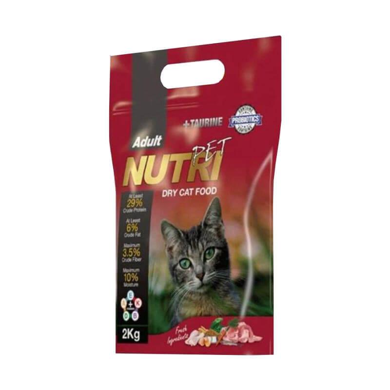 غذای خشک گربه نوتری پت مدل Adult Probiotic وزن 2 کیلوگرم