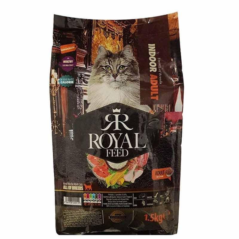 غذای خشک گربه رویال مدل indoor adult وزن 1.5 کیلوگرم