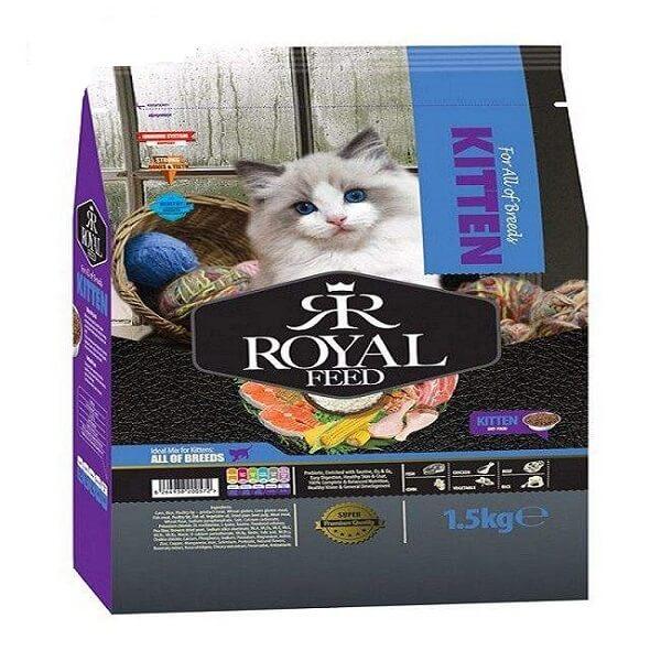 غذای خشک گربه رویال فید مدل kitten وزن 1.5 کیلوگرم